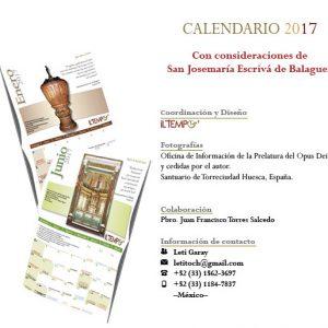 PORTADA Y CONTRAPORTADA Calendario IL TEMPO 2017 version de pared con Santoral