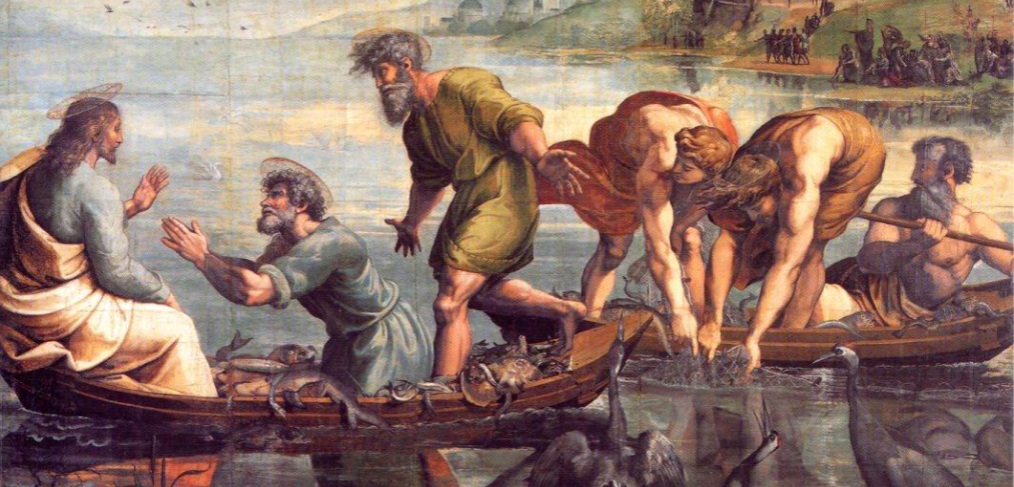 Image result for Peter kneeling before Jesus in the boat