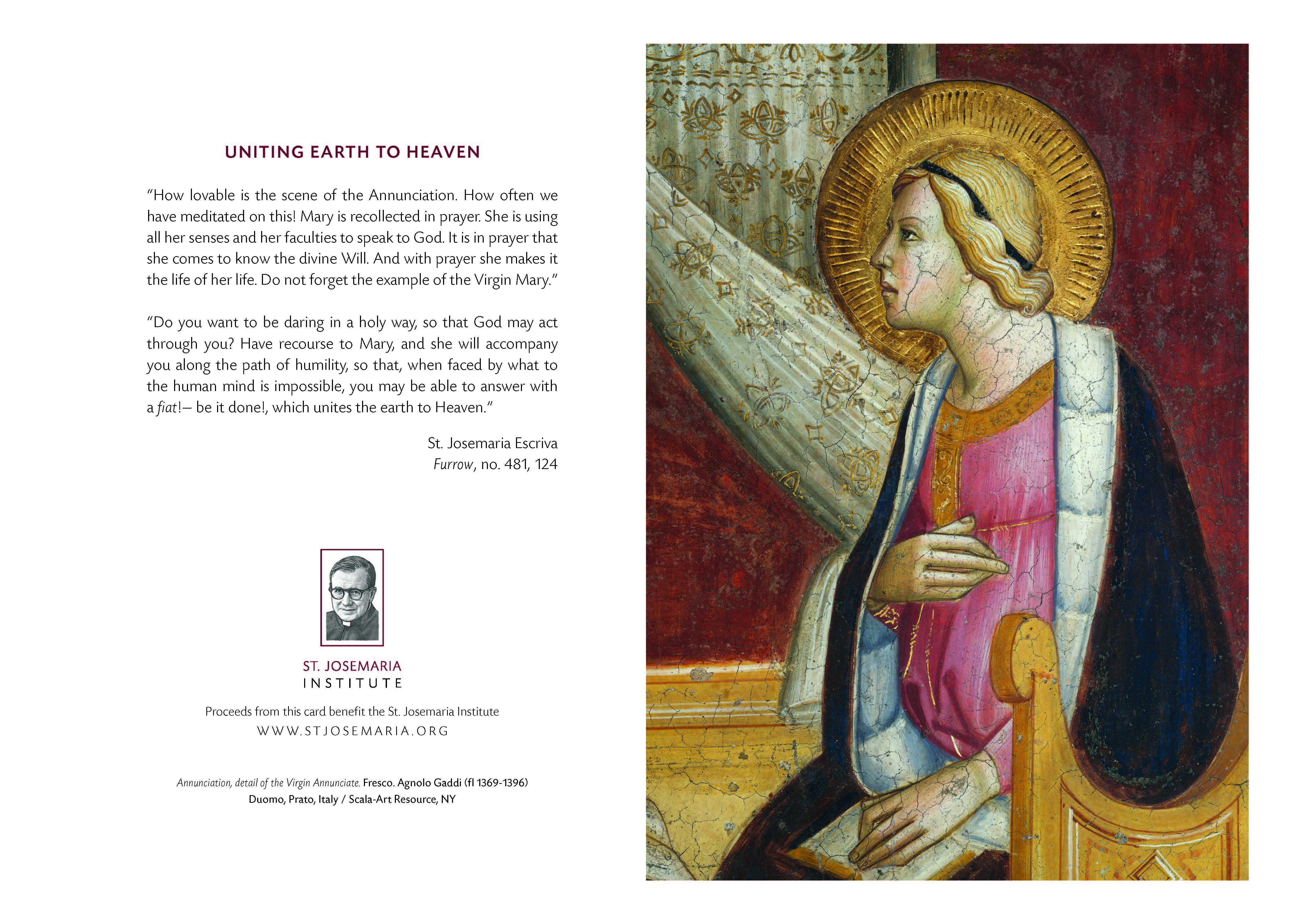 Christmas Cards – Annunciation | St. Josemaria Institute