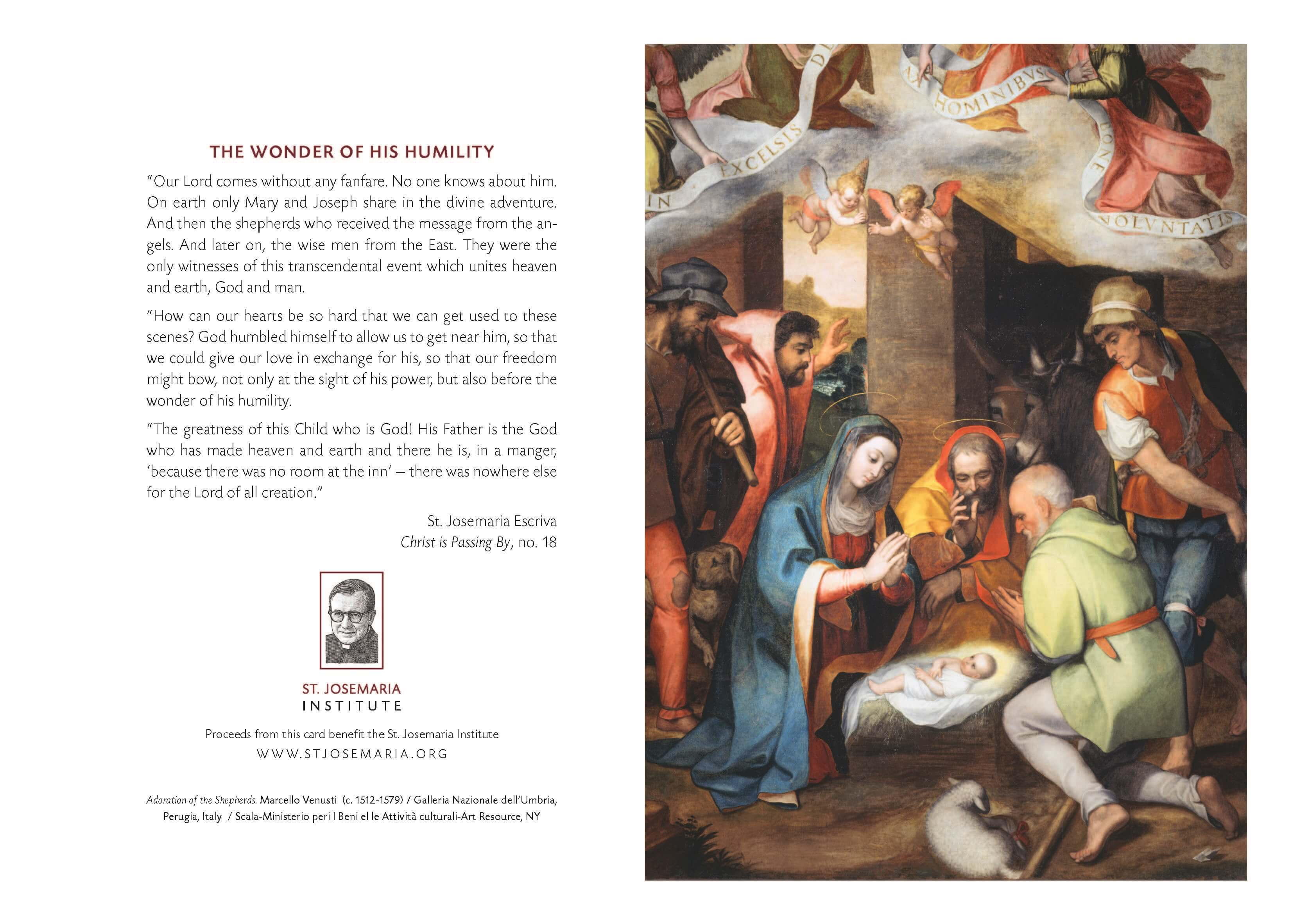 Christmas Cards – Nativity | St. Josemaria Institute